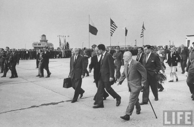 Lotnisko Babice - wizyta Nixona w 1959 (3)