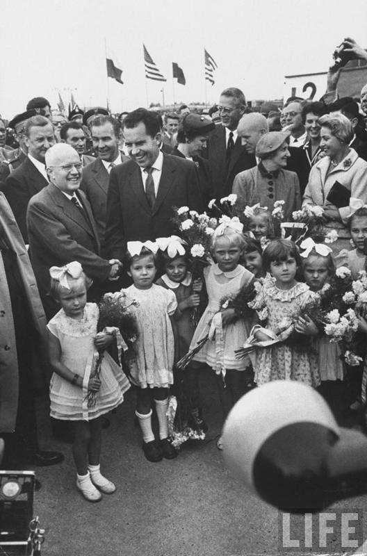 Lotnisko Babice - wizyta Nixona w 1959 (2)