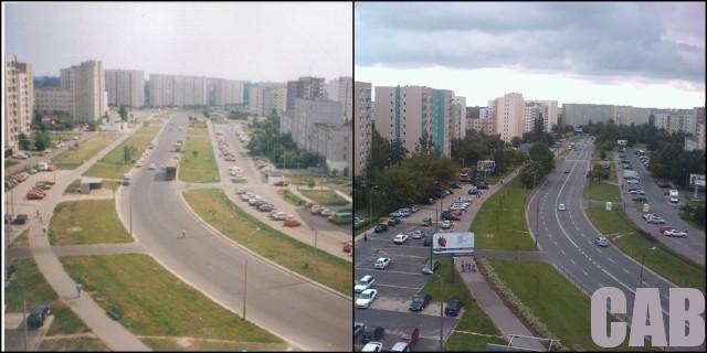 Ulica Wrocławska w latach 90. i dziś
