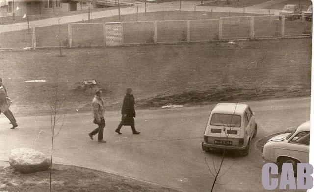 Widok z ul. Pirenejskiej 20 - 1989 r