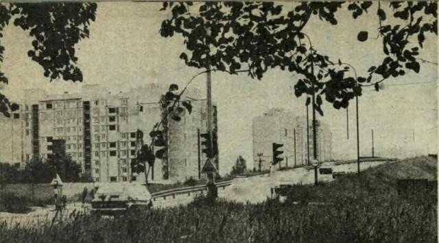 Wiadukt ul. Powstańców Śląskich 1989 r.