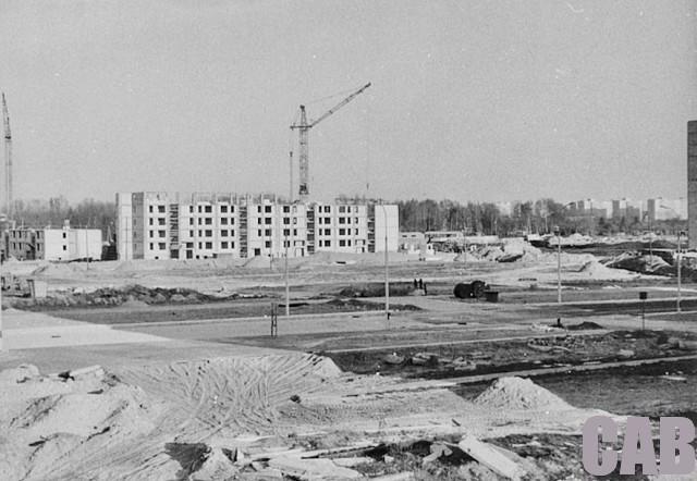 ul. Wrocławska, budowa bloków na osiedlu Bemowo IV
