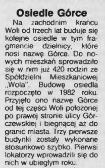 Stolica - Osiedle Górce