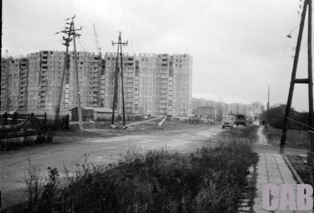 Budowa bloku Anieli Krzywoń 2 1976 r.