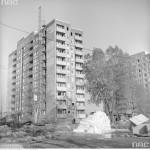 Blok w budowie na Jelonkach, 1974 r.