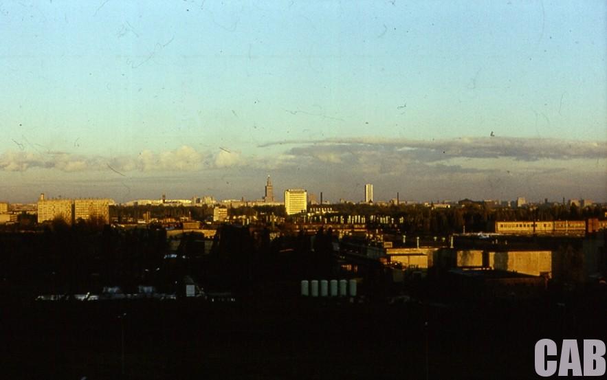 warszawskie city widziane z Jelonek - 1979