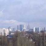 warszawskie city widziane z Jelonek - 2011