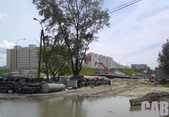 rozbiórka wiaduktu na Górcach