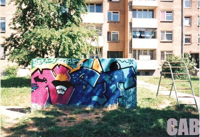 graffiti, kolonia A. Krzywoń