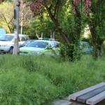 Podwórko pomiędzy blokami przy Czumy