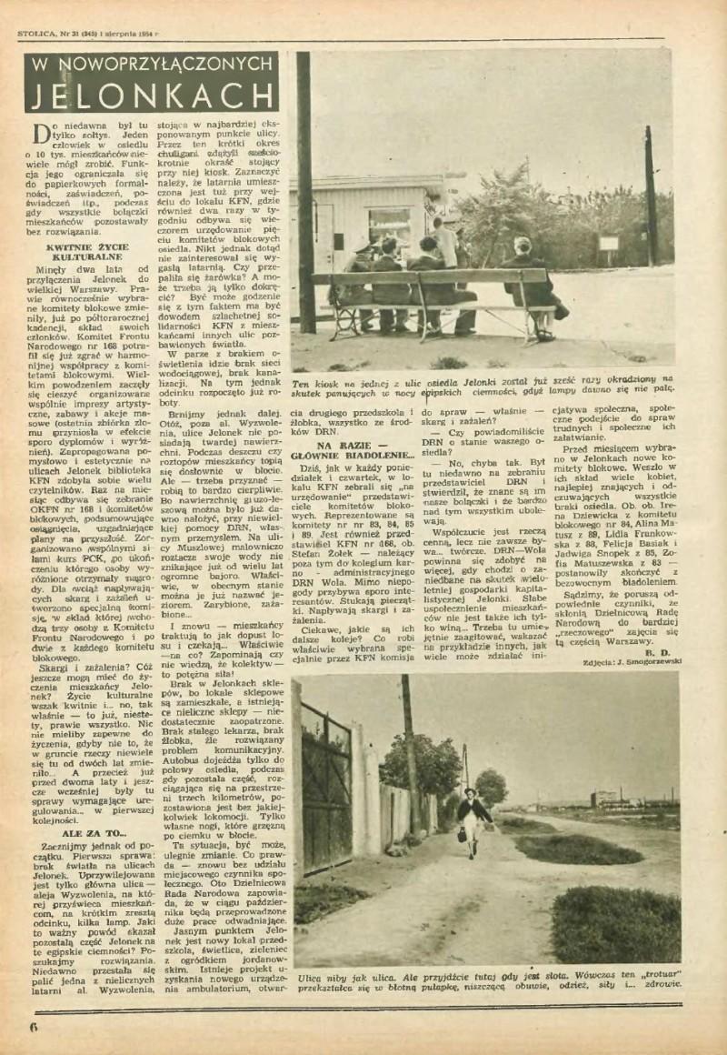 Tygodnik Stolica 31/1954