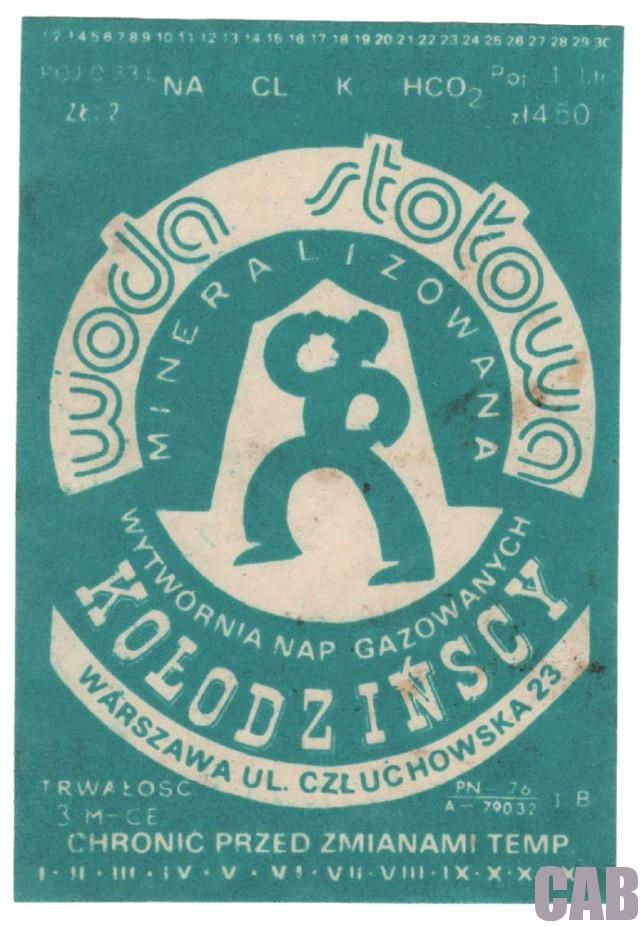 Etykieta - Wytwórnia Napojów Gazowanych przy Człuchowskiej