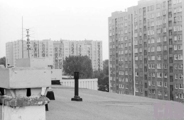 widok z dachu bloku przy Kossutha