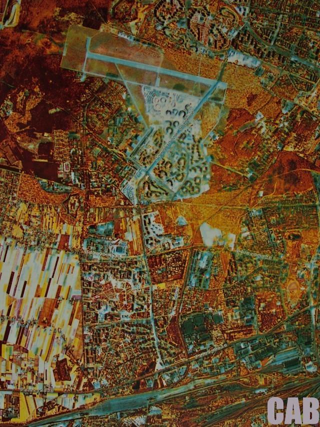 fragment satelitarnej mapy warszawy