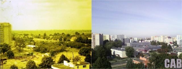 Rejon Hali Wola 1978 i 2013 r. Fot. archiwum M. Murackiej