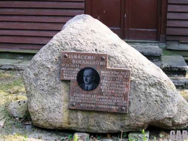 Głaz poświęcony Ignacemu Boernerowi (ul. Grotowska)