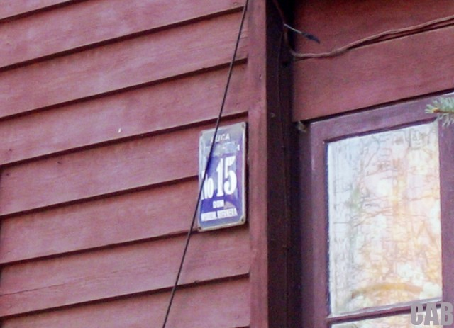 Tablica uliczna domu Ignacego Boernera