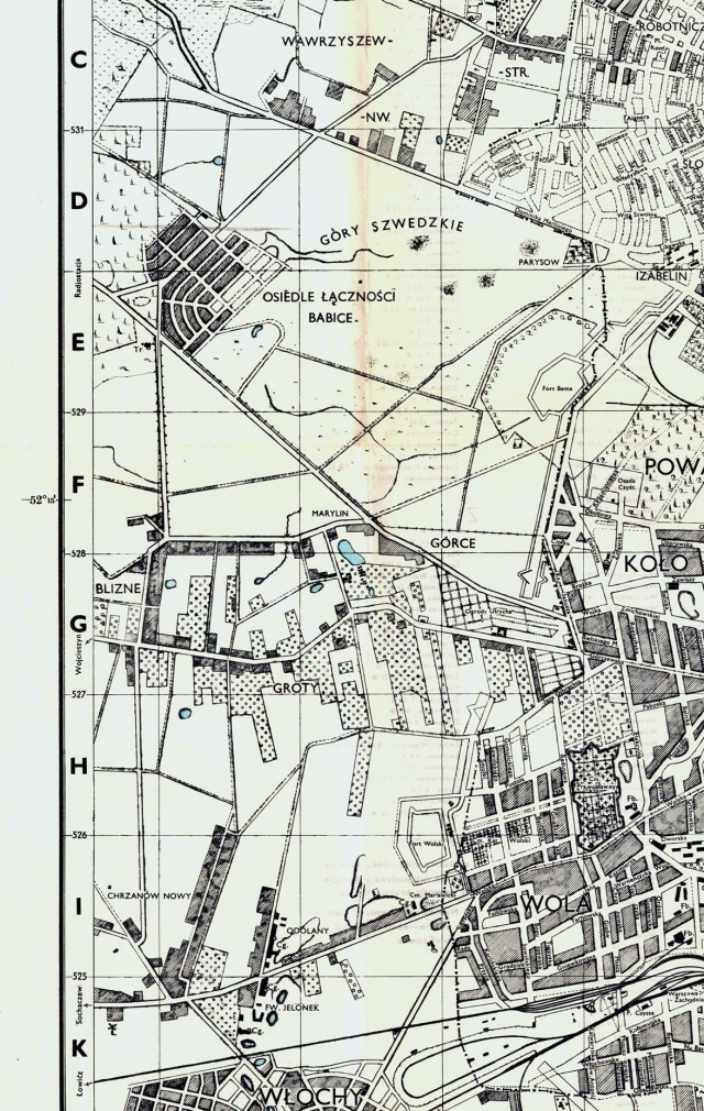 Warszawa. Town plans of Poland -fragment