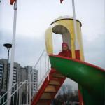Plac zabaw przy McDonald's w Hali Wola