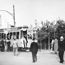 Końcowy przystanek linii tramwajowej B