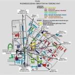 Plan rozmieszczenia obiektów na terenie WAT