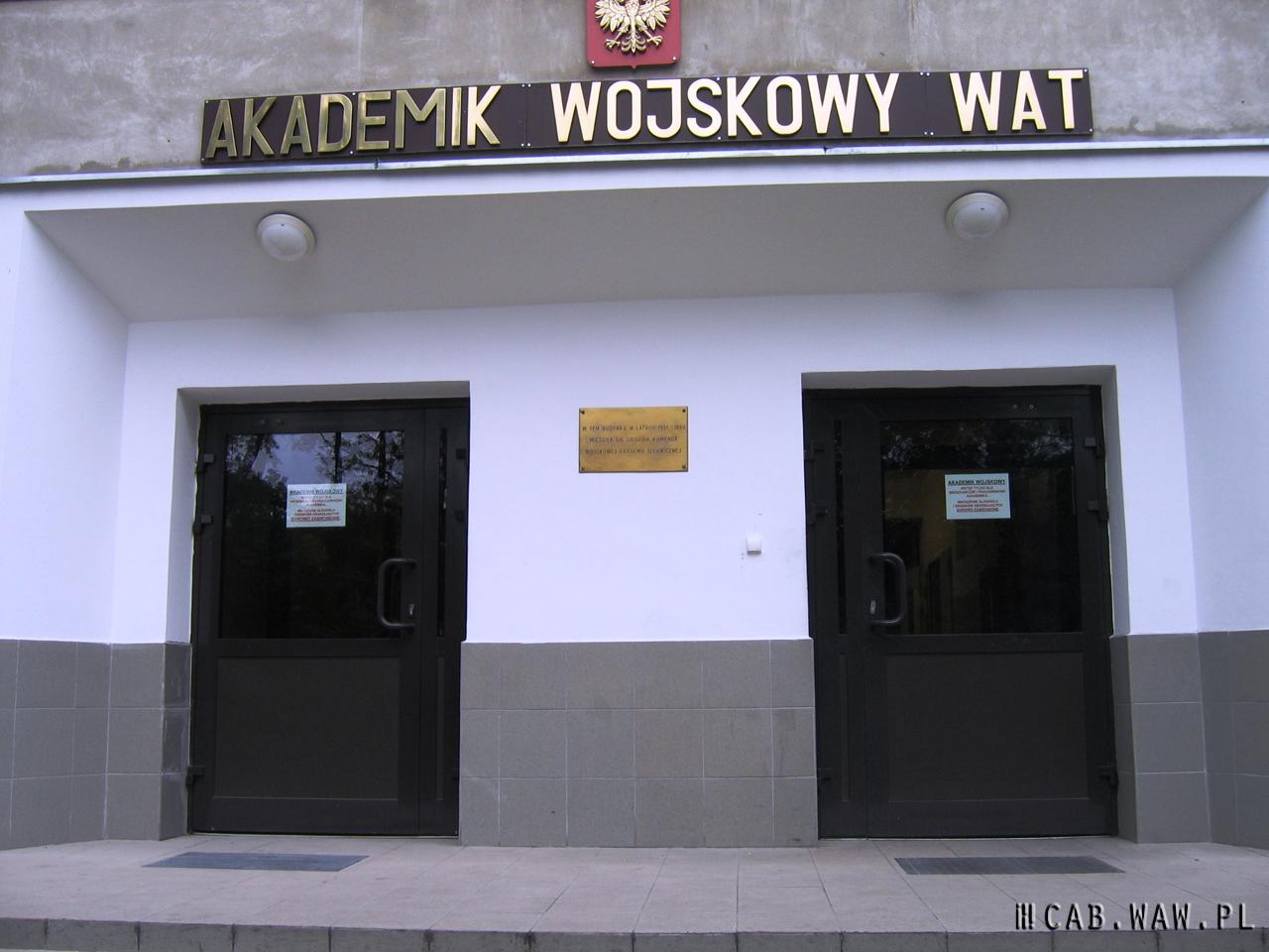 Teren WAT, dawna Administracja i Izba Chorych, fot. Ireneusz Dobiech