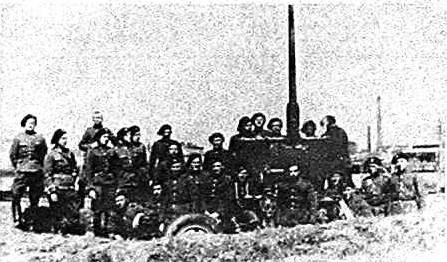 Żołnierze I Zmotoryzowanego Pułku Artylerii Przeciwlotniczej - lata międzywojenne