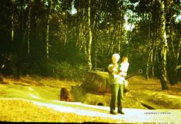 Autor przy czołgu T-34, WAT