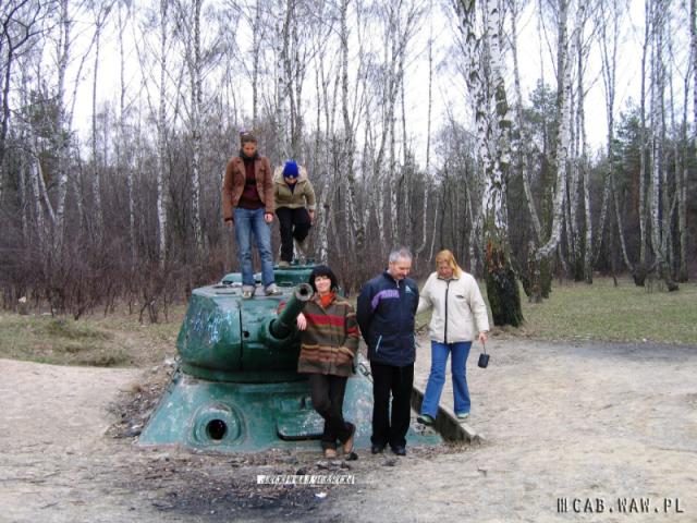 Przemalowany na zielono pierwszy czołg, WAT