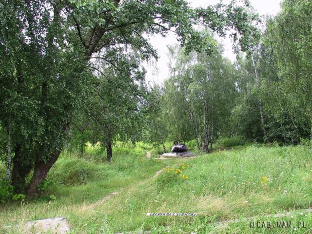 Widok drugiego czołgu na poligonie WAT