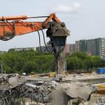 Rozbiórka wiaduktu na Powstańców Śląskich