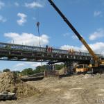 Tymczasowe połączenie nad budową trasy S8