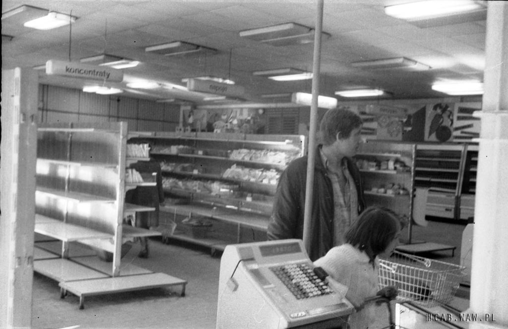 Pawilon handlowy na Rozłogi - 1977 r.