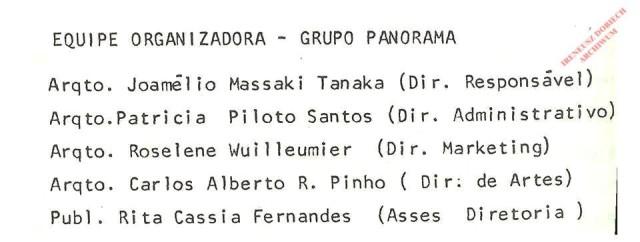 Informacja o Organizatorach Grupy Panorama