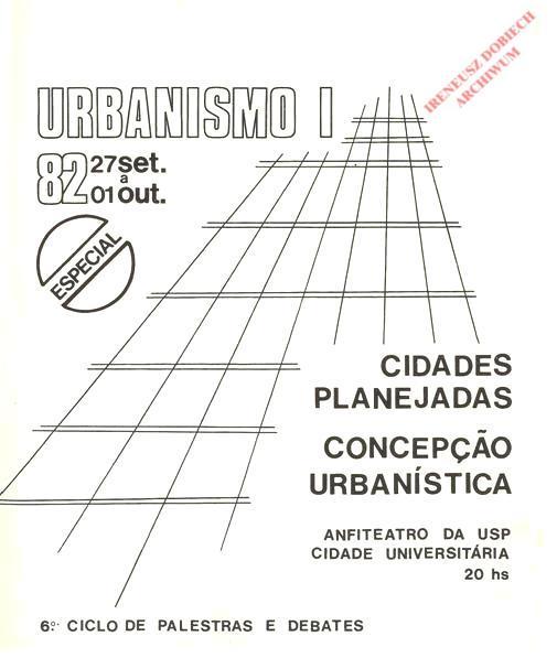 Okładka prospektu z Kongresu Architektów z 1982 roku