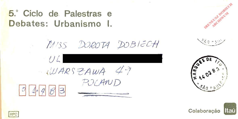 List z Sao-Paulo nadrukiem z Kongresu