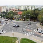 Skrzyżowanie ul. Górczewskiej i Lazurowej przed przebudową