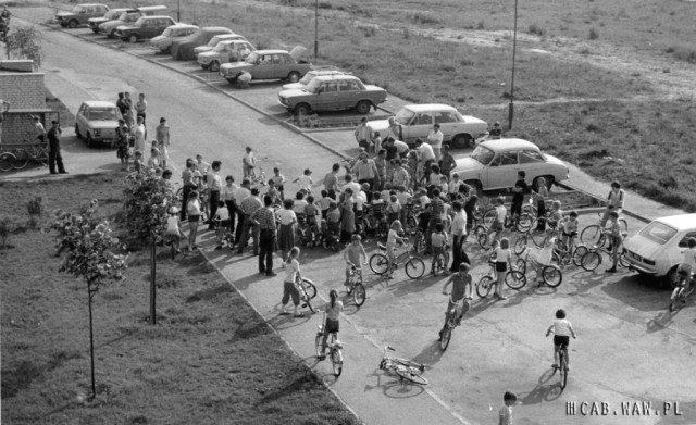 Zawody rowerowe - lata 80.