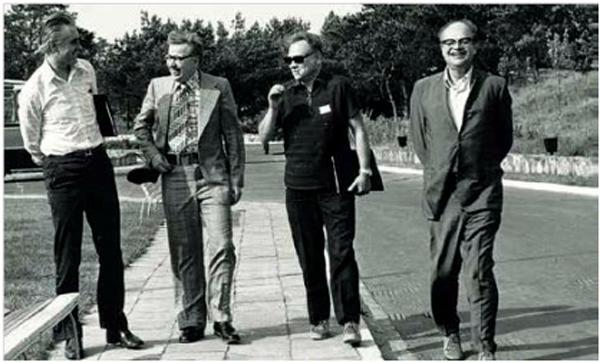 Profesorowie: Zbigniew Puzewicz, Sylwester Kaliski, Nikołaj Basow
