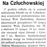 Kurier Wolski – podsumowanie telefonizacji Woli Zachodniej