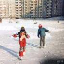 Zima przy ul. Kędzierskiego - lata 80.